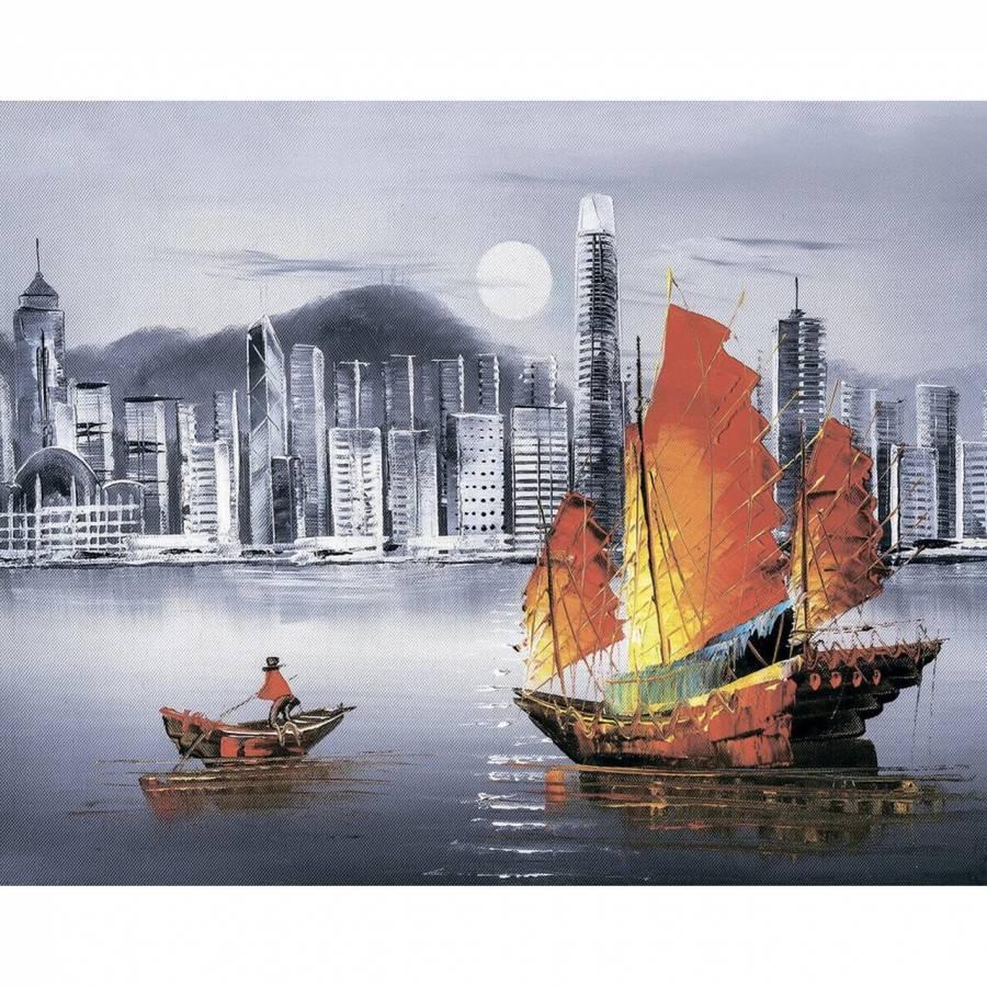 Κατασκευή Ψηφιδωτού kit Hong Kong 40cm X 50cm