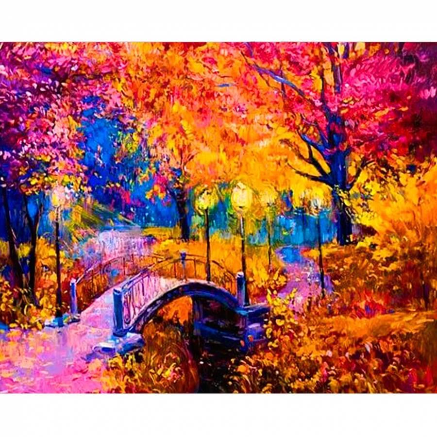 Ζωγραφιστέ με Αριθμούς kit Φθινοπωρινά Χρώματα 40cm X 50cm