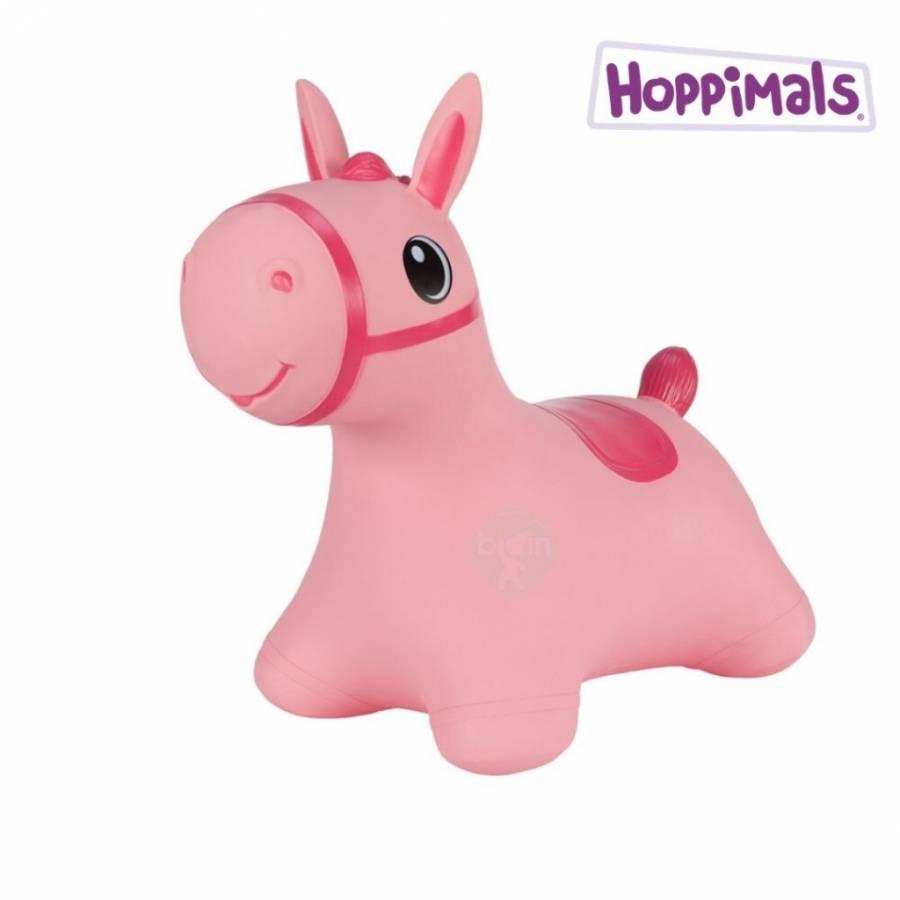 Hoppimals Φουσκωτό παιχνίδι Aλογάκι Ροζ