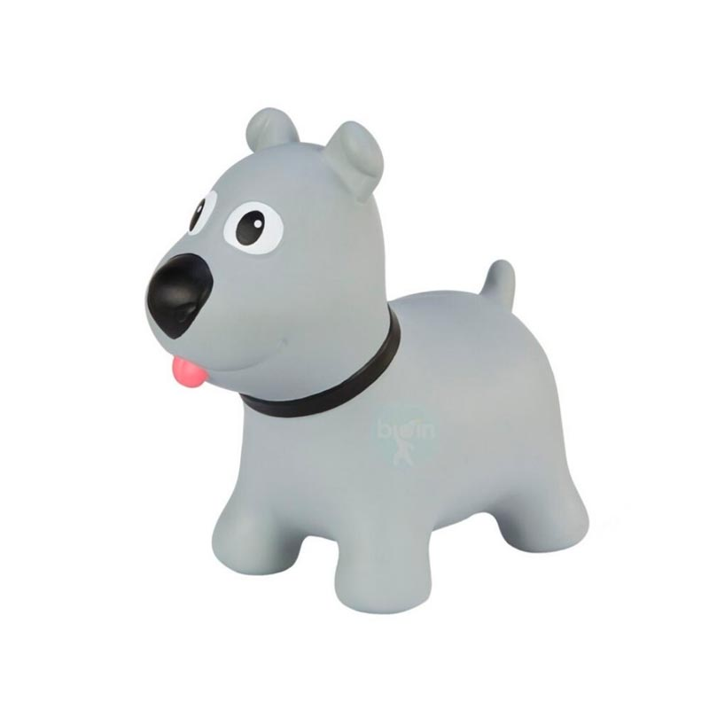 Hoppimals Φουσκωτό Σκύλος Χοπ Χοπ, ζωγραφισμένο στο χέρι Γκρι