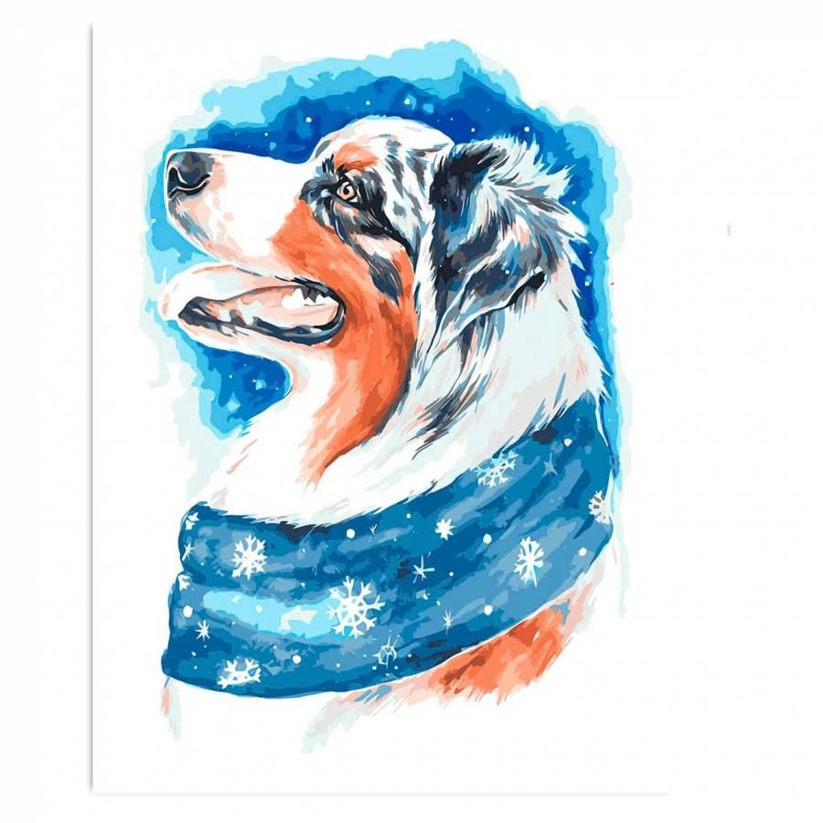 Ζωγραφιστέ με Αριθμούς kit Σκυλάκι 30cm X 40cm