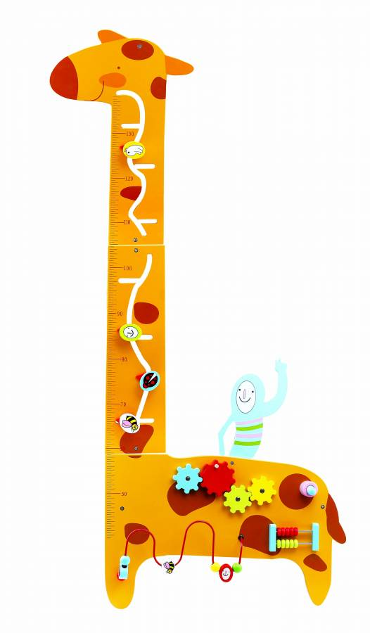 Trampolino.gr Υψομετρητής Giraffe Τοίχος Μετρησης Υψους με διαδραστικά παιχνίδια 130 εκ.