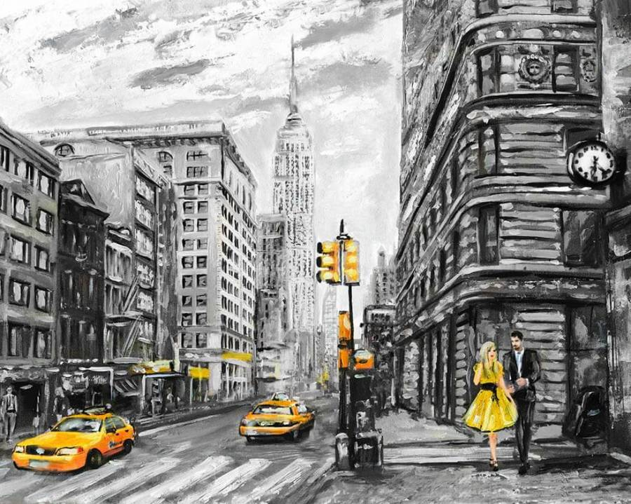 Ζωγραφιστέ με Αριθμούς kit Νεα Υορκη 40cm X 50cm