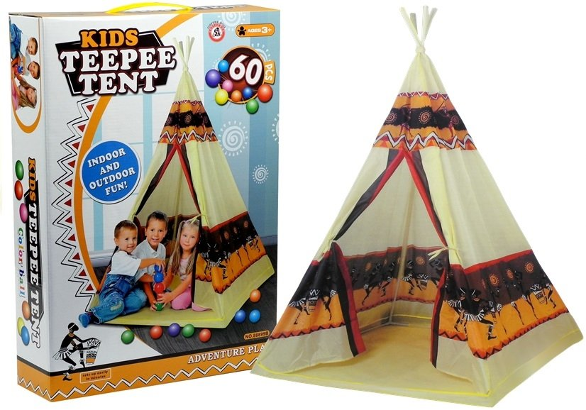 OEM Παιδική Σκηνή Ινδιάνου, Teepee με 60 χρωματιστά μπαλάκια