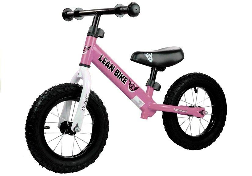 OEM Ποδηλατάκι Εκμάθησης ισορροπία ROCKY Ροζ με φουσκωτές ρόδες