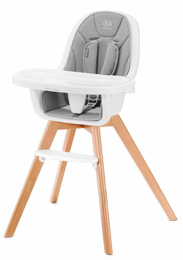 KinderKraft Παιδική Καρέκλα Φαγητού 2 σε 1 Tixi Grey
