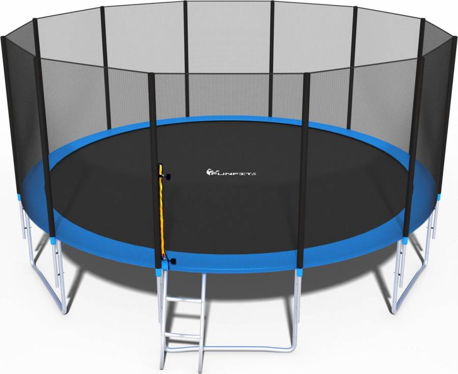 FunFit Τραμπολινο 4,90m με διχτυ ασφαλειας με σκάλα