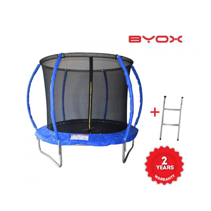 Byox Byox Τραμπολίνο Με Δίχτυ Και Σκάλα 244 cm
