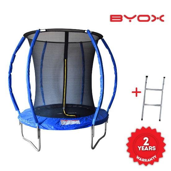 Byox Τραμπολίνο Byox με εσωτερικό προστατευτικό δίχτυ και Σκάλα 183 εκατοστά