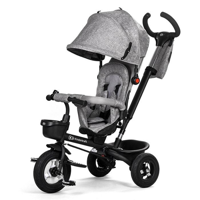 KinderKraft Παιδικό Τρίκυκλο Αναδιπλούμενο Ποδήλατο Kinderkraft Aveo 9-60 μηνών Γκρι