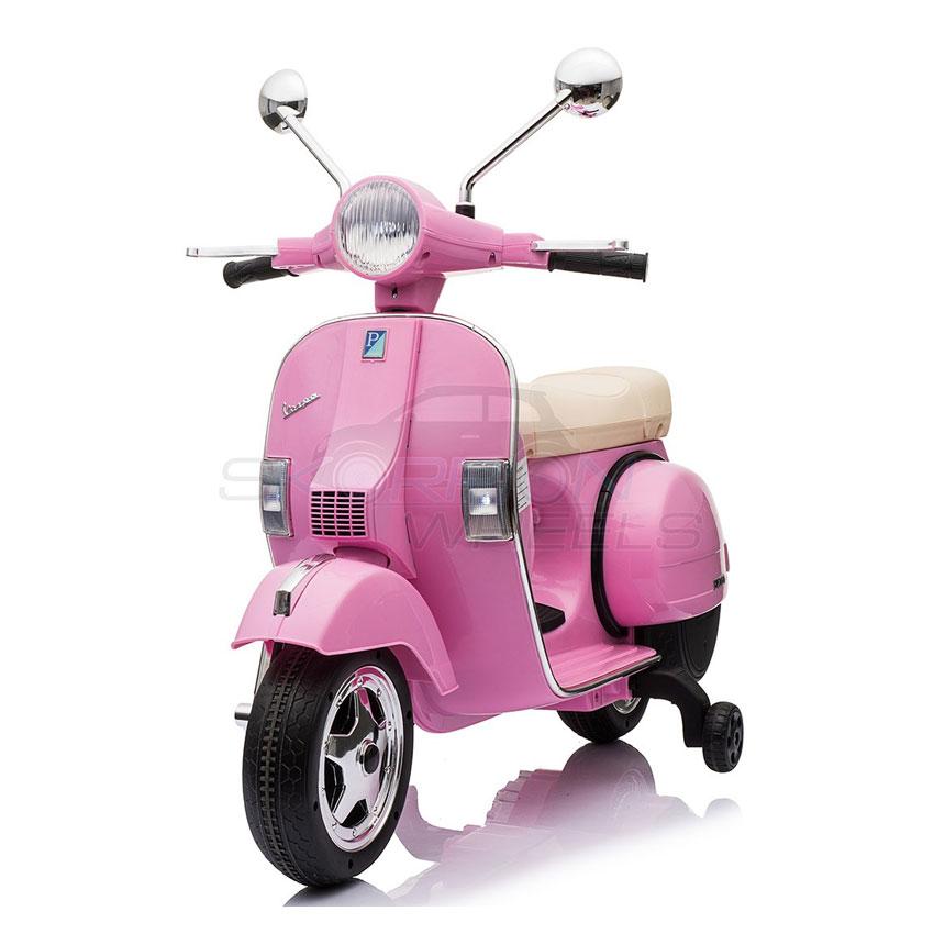 ScorpionWheels Παιδική Μηχανή Vespa Piaggio 12V Ροζ